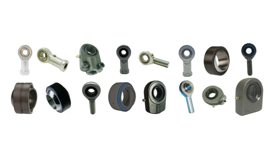 Collage of Rod End and Plain Spherical Bearings